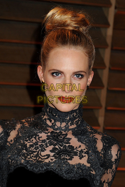 02 March 2014 - West Hollywood, California - Poppy Delevingne. 2014 Vanity Fair Oscar Party following the 86th Academy Awards held at Sunset Plaza. <br /> CAP/ADM/BP<br /> &copy;Byron Purvis/AdMedia/Capital Pictures