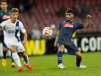 Lorenzo Insigne  during Europa League Semi Final first    leg soccer match, between SSC Napoli and  Dinipro   at  the San Paolo   stadium in Naples  Italy , May 07, 2015