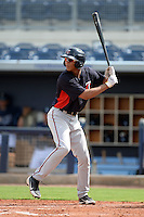 Minnesota Twins outfielder Tyree Davis (2) during an Instructional League game against the Tampa Bay Rays on September 16, 2014 at Charlotte Sports Park in Port Charlotte, Florida.  (Mike Janes/Four Seam Images)