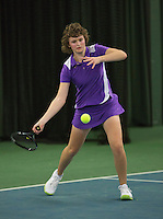 Rotterdam, The Netherlands, 15.03.2014. NOJK 14 and 18 years ,National Indoor Juniors Championships of 2014, Elise Moeijes (NED)<br /> Photo:Tennisimages/Henk Koster