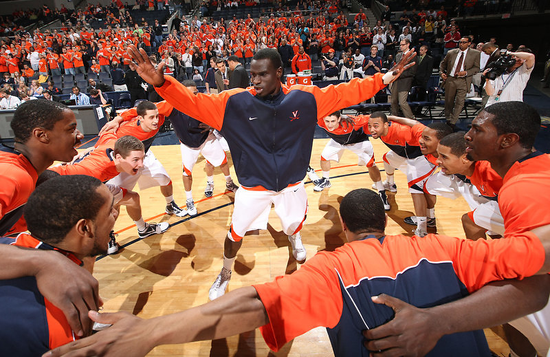 Virginia beat UNC Wilmington 69-67 Monday Jan. 18, 2010 in Charlottesville, Va.  Virginia guard/forward Solomon Tat (45) (Photo/The Daily Progress/Andrew Shurtleff)