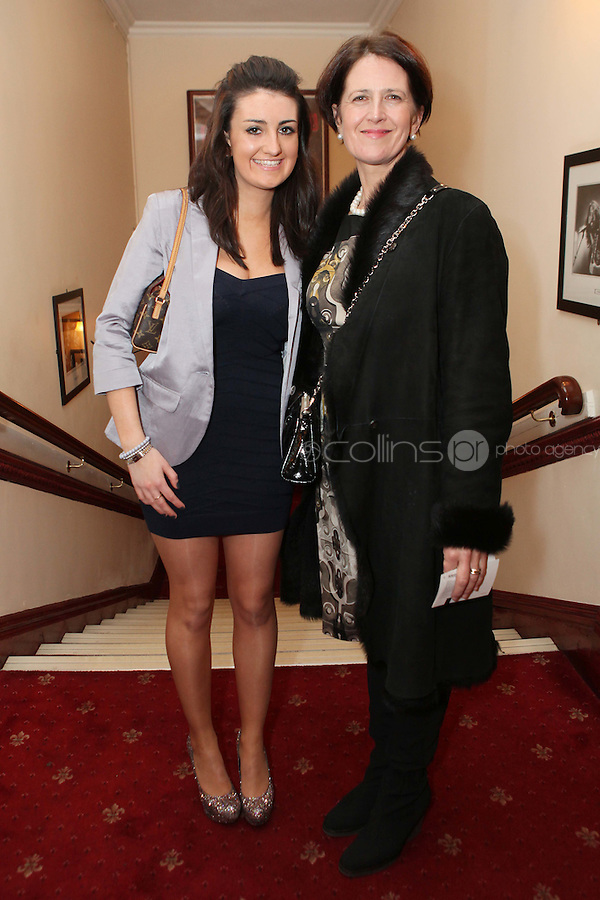 "NO REPRO FEE. 17/1/2010. The Field opening night. Maggie and Marie Keane are pictured at the Olympia Theatre for the opening night of John B Keanes 'The Field"" Picture James Horan/Collins"