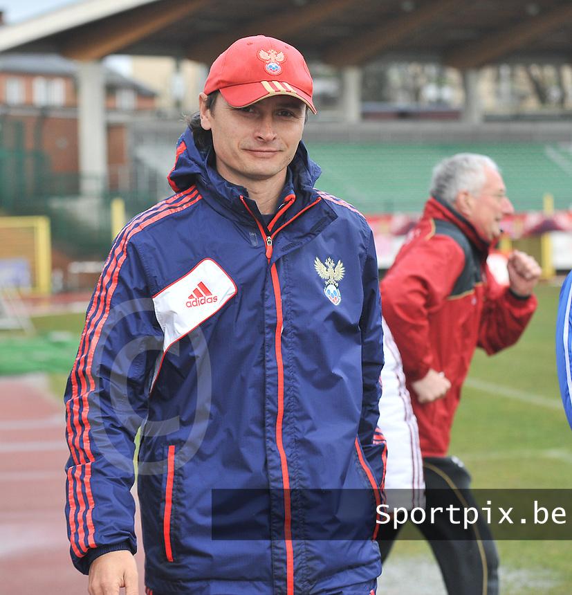Russia U19 - Belgium U19 : Russian coach Sergei Nikitin (RUS) ..foto DAVID CATRY / Nikonpro.be