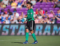 Orlando, FL - Saturday October 14, 2017: Adrianna Franch during the NWSL Championship match between the North Carolina Courage and the Portland Thorns FC at Orlando City Stadium.   The Portland Thorns won the championship, 1-0.