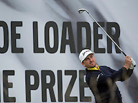 15.10.2014. The London Golf Club, Ash, England. The Volvo World Match Play Golf Championship.  Day 1 group stage matches.  Graeme McDowell (NIR) tee shot on the sixteenth