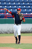 October 5, 2009:  Third Baseman Steven Souza of the Washington Nationals organization during an Instructional League game at Space Coast Stadium in Viera, FL.  Souza was selected in the 3rd round of the 2007 MLB Draft.  Photo by:  Mike Janes/Four Seam Images