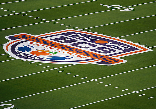 January 7, 2013:  A general view of the field prior to the Discover BCS National Championship between the Alabama Crimson Tide and the Notre Dame Fighting Irish at Sun Life Stadium in Miami Gardens, Florida.
