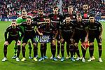 Team photo of Bayer 04 Leverkusen during the UEFA Europa League match between Atletico de Madrid and Bayer 04 Leverkusen at Wanda Metropolitano Stadium in Madrid, Spain. October 22, 2019. (ALTERPHOTOS/A. Perez Meca)