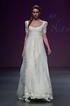 04.05.2012. A model presents brides designs of Pol Núñez at the Cibeles Madrid Novias in Ifema (Alterphotos/Marta Gonzalez)