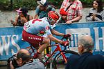 Jos&eacute; Gon&ccedil;alves (POR) Team Katusha Alpecin climbs Mur de Huy during the 2019 La Fleche Wallonne, running 195km from Ans To Huy, Belgium, 24 April 2019.<br /> Photo by Thomas van Bracht / PelotonPhotos.com / Cyclefile