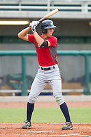 Michael Lorenzen #2 of Team Red at bat against Team Blue during the USA Baseball 18U National Team Trials at the USA Baseball National Training Center on June 30, 2010, in Cary, North Carolina.  Photo by Brian Westerholt / Four Seam Images