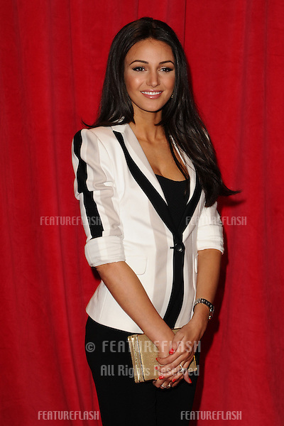 Michelle Keegan arriving for the 2014 British Soap Awards, at the Hackney Empire, London. 24/05/2014 Picture by: Steve Vas / Featureflash