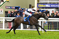 Winner of The British Stallion Studs EBF Margadale Fillies' Handicap Bella Vita ridden by Charles Bishop and trained by Eve Johnson Houghton  during Evening Racing at Salisbury Racecourse on 11th June 2019