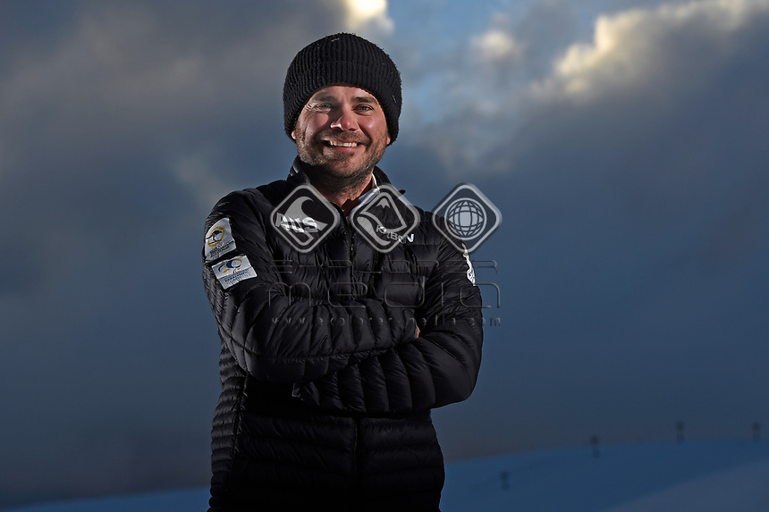 Head snowboard coach, Lukas Prem<br /> Australian Paralympic Committee<br /> 2017 Snowboard Cross training camp for <br /> 2018 Pyeongchang South Korea Paralympics<br /> Mount Hotham Ski Resort<br /> VIC / August 22nd - 24th 2017<br /> © Sport the library / Jeff Crow