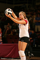 18 November 2005: Jessica Fishburn during Stanford's 3-2 win over California in the Big Spike at Maples Pavilion in Stanford, CA.