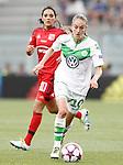 VfL Wolfsburg's Tessa Wullaert (r) and Olympique Lyonnais' Louisa Necib during UEFA Women's Champions League 2015/2016 Final match.May 26,2016. (ALTERPHOTOS/Acero)