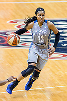 Washington, DC - Sept 17, 2017: Minnesota Lynx forward Maya Moore (23) in action during playoff game between the Mystics and Lynx at the Verizon Center in Washington, DC. (Photo by Phil Peters/Media Images International)