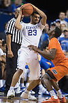 Guard Jamal Murray looks to pass the ball under pressure during the game against the Florida Gators at Rupp Arena on February 6, 2016 in Lexington, Kentucky. Kentucky defeated Florida 80-61.