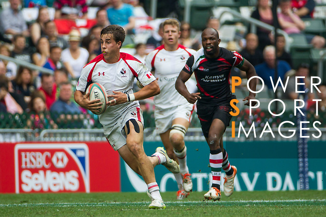 Canada vs Kenya during the HSBC Sevens Wold Series Bowl Quarter Finals match as part of the Cathay Pacific / HSBC Hong Kong Sevens at the Hong Kong Stadium on 29 March 2015 in Hong Kong, China. Photo by Manuel Bruque / Power Sport Images