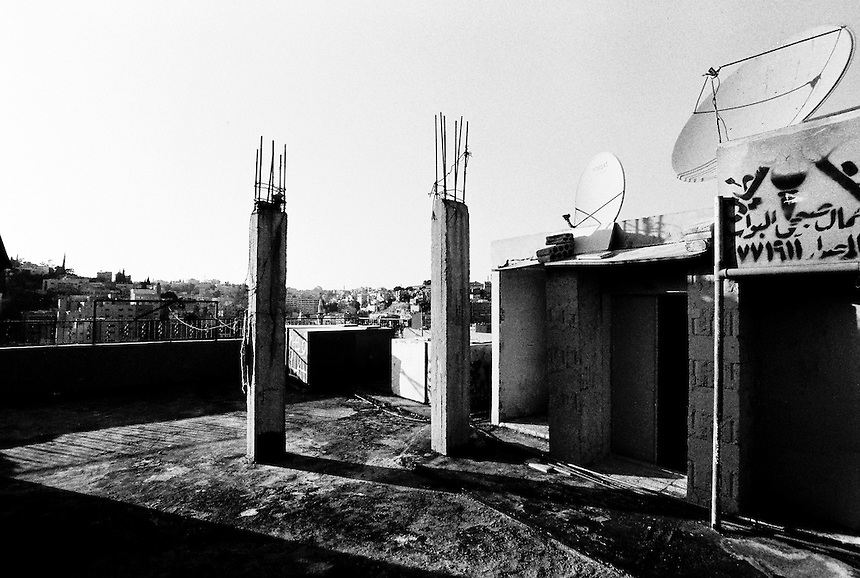 A rooftop near downtown Amman, Jordan, where a group of Iraqi refugees live, August 2009. Photo: Ed Giles.