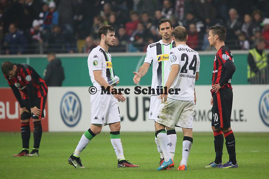 Jubel Gladbach, Frust bei Frankfurt - Eintracht Frankfurt vs. Borussia Mönchengladbach, DFB-Pokal 2. Runde, Commerzbank Arena