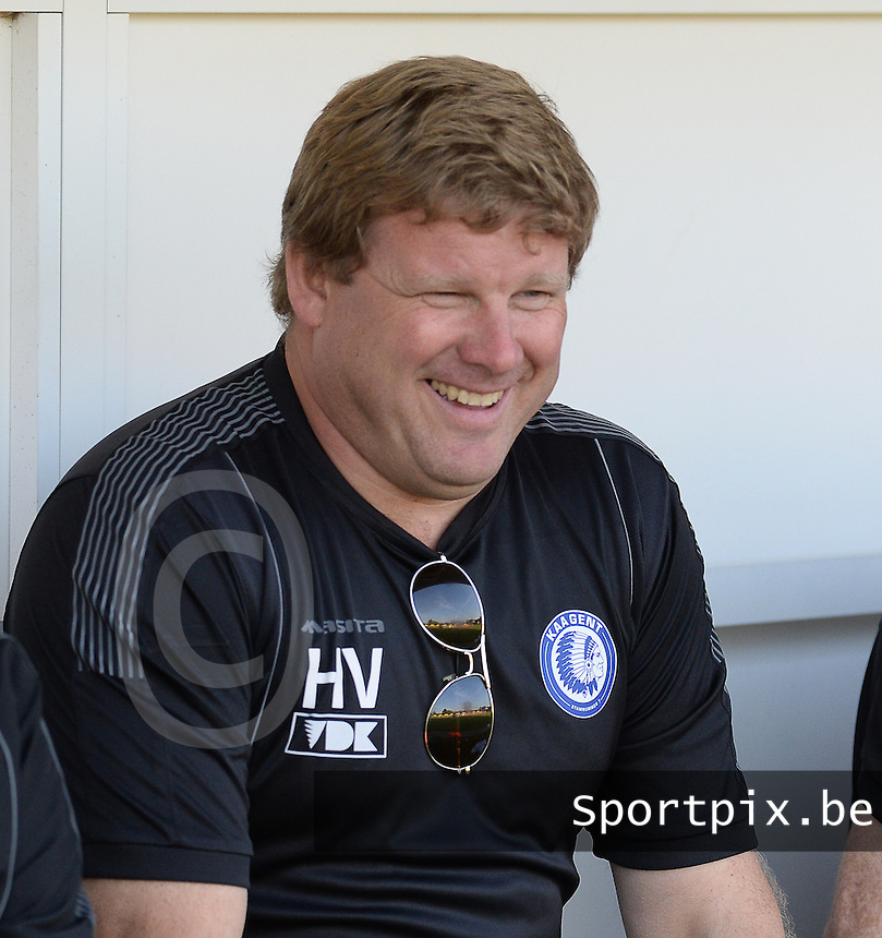 20140626 - LAUWE, BELGIUM : Gent head coach Hein Vanhaezebrouck pictured during  a friendly match between FC Gullegem and Belgian first division soccer team KAA Gent, the second match for KAA Gent of the preparations for the 2014-2015 season, Tuesday 24 June 2014 in Lauwe. PHOTO DAVID CATRY