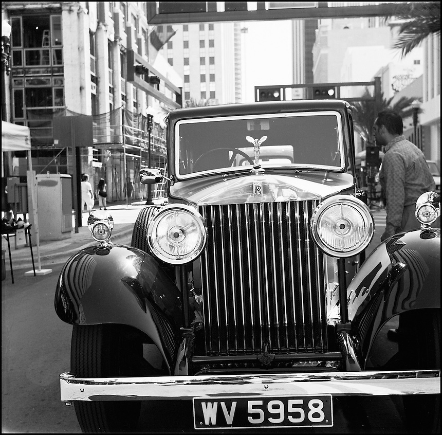 """Rolls Royce<br /> From """"Miami in Black and White"""" series. Downtown Miami, FL, 2007"""