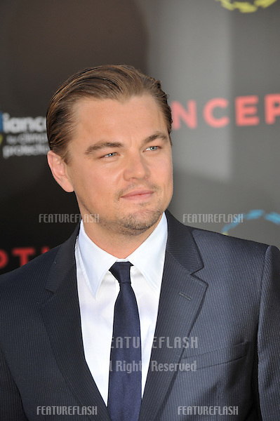 """Leonardo DiCaprio at the Los Angeles premiere of his new movie """"Inception"""" at Grauman's Chinese Theatre, Hollywood..July 13, 2010  Los Angeles, CA.Picture: Paul Smith / Featureflash"""