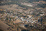 Jackson, Amador County, California,  during autumn from the air.