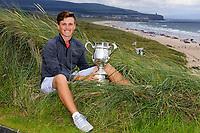 Aaron Edwards-Hill (Chelmsford) winner of the North of Ireland Amateur Championship, Portstewart Golf Club, Portstewart, Antrim,  Ireland. 12/07/2019<br /> Picture: Golffile | Fran Caffrey<br /> <br /> <br /> All photo usage must carry mandatory copyright credit (© Golffile | Fran Caffrey)