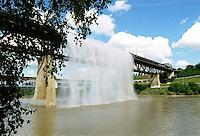 Waterfall on the Highlevel bridge August 1/99. PHOTO BY IAN JACKSON