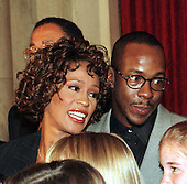 Washington, DC - October 1, 1997 -- Whitney Houston and her husband, Bobby Brown, at a Capitol Hill press confrence on October 1, 1997 in Washington, D.C. announcing her benefit concert at DAR Constitution Hall on October 5, 1997 for the Children's Defense Fund..Credit: Ron Sachs / CNP