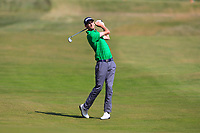Tiarnan McLarnon (Masereene) on the 9th during Round 4 of the East of Ireland Amateur Open Championship 2018 at Co. Louth Golf Club, Baltray, Co. Louth on Monday 4th June 2018.<br /> Picture:  Thos Caffrey / Golffile<br /> <br /> All photo usage must carry mandatory copyright credit (&copy; Golffile | Thos Caffrey)