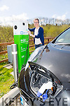 Winner of Electric Car Ciara O'Callaghan at the Charge plug in the Wetlands Centre