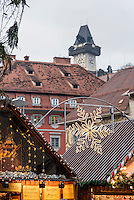Weihnachtsmarkt auf dem Hauptplatz, Graz, Steiermark, &Ouml;sterreich<br /> Christmas fair at Hauptplatz, Graz, Styria, Austria