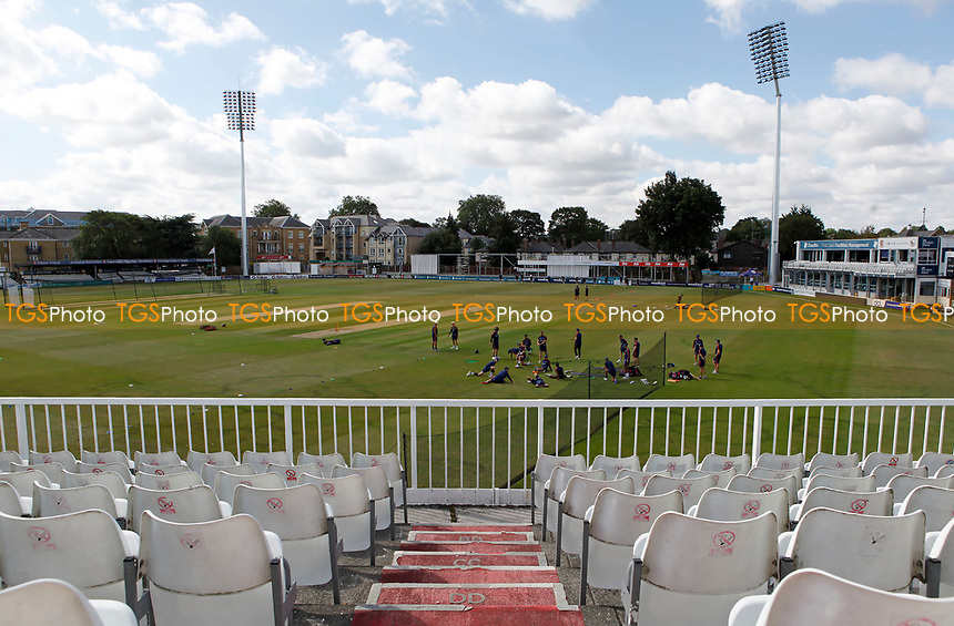 General view of the ground prior to Essex CCC vs Kent CCC, Bob Willis Trophy Cricket at The Cloudfm County Ground on 1st August 2020