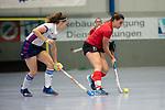 Mannheim, Germany, November 29: During the Bundesliga indoor women hockey match between Mannheimer HC and TSV Mannheim on November 29, 2019 at Irma-Roechling-Halle in Mannheim, Germany. Final score 4-4. (Copyright Dirk Markgraf / 265-images.com) *** Miriam Vogt #77 of TSV Mannheim