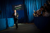 Terry McAuliffe, Democratic nominee in the 2013 Virginia gubernatorial election, campaigns at an event at Washington-Lee High School, Arlington, Virginia, U.S., on Sunday, November 3, 2013. <br /> Credit: Pete Marovich / Pool via CNP