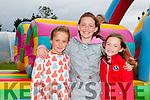L-r Rachel O'Mahony, Alison Lane and Grace O'Mahony enjoying the Camp Cashcow at Camp Community Sports Field on Sunday