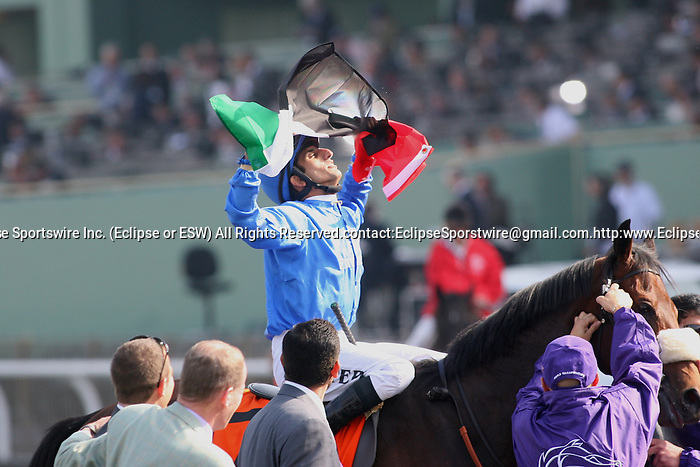 7 November 2009: Vale of York and jockey Ahmed Ajtebi win the Breeders Cup Sprint at Santa Anita Race Track in Arcadia, CA..