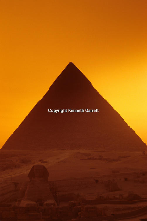 Egypt's Old Kingdom; Pyramid of Khafre and Sphinx; Giza; Egypt