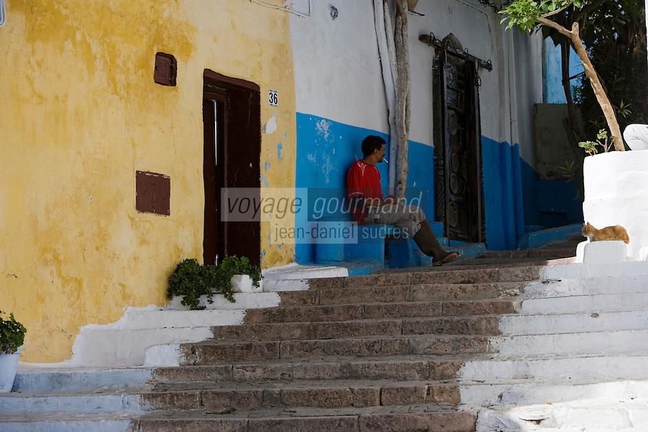 Afrique/Afrique du Nord/Maroc/Rabat: dans les ruelles de la kasbah des Oudaïas