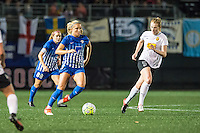 Allston, MA - Saturday Sept. 24, 2016: Kristie Mewis, Samantha Mewis during a regular season National Women's Soccer League (NWSL) match between the Boston Breakers and the Western New York Flash at Jordan Field.