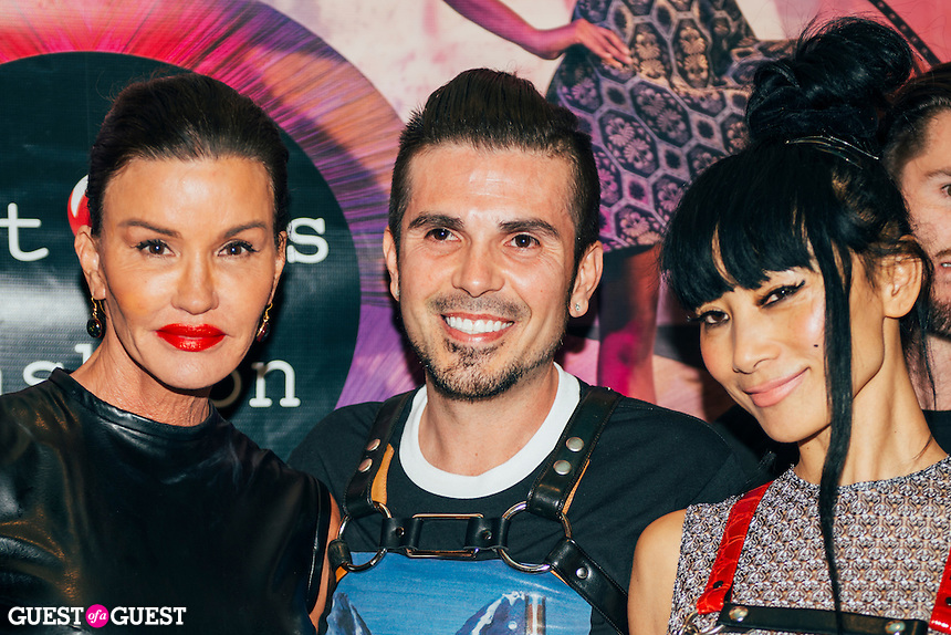 Janice Dickinson, Erik Rosete, and Bai Ling at Mister Triple X Presents Bunny Land Los Angeles Trunk Show & Fashion Party With Friends (Photo by Tiffany Chien/Guest Of A Guest)