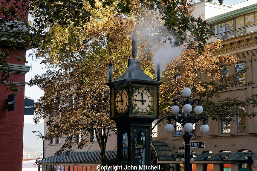 The Gastown Steam Clock in the historical Gastown district, Vancouver, BC, Canada