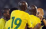FUDBAL, BEOGRAD, 5. Jun 2010. - Nezadovoljstvo igraca Kameruna. Prijateljska utakmica izmedju Srbije i Kameruna odigrana u okviru priprema za Svetsko prvenstvo u Juznoj Africi. Foto: Nenad Negovanovic