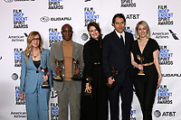 LOS ANGELES - FEB 23:  Dede Gardner, Barry Jenkins, Adele Romanski, Jeremy Kleiner, Sara Murphy, If Beale Street Could Talk Producers at the 2019 Film Independent Spirit Awards on the Beach on February 23, 2019 in Santa Monica, CA