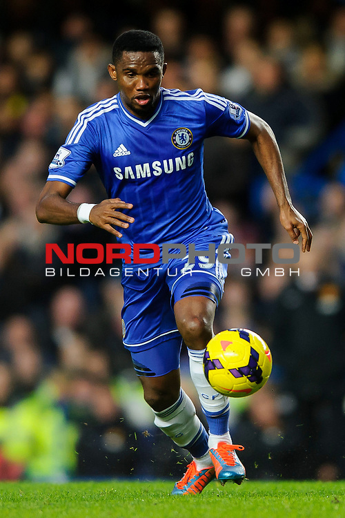 Chelsea Forward Samuel Eto'o (CMR) in action during the match -   19/01/2014 - SPORT - FOOTBALL - Stamford Bridge, London - Chelsea v Manchester United - Barclays Premier League.<br /> Foto nph / Meredith<br /> <br /> ***** OUT OF UK *****