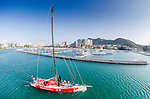 Dongfeng Race Team trains on Hainan waters ahead the 2014/15 Volvo Ocean Race on February 24, 2014 in Sanya, China. Photo by Rick Deppe / Power Sport Images