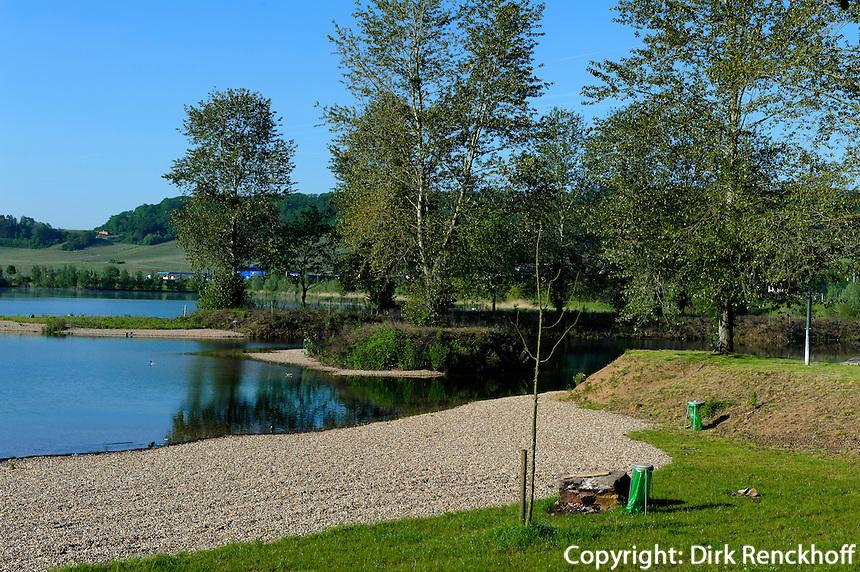 Baggerseeen Naturschutzgebiet Reimecher Haff bei Remerschen, Luxemburg
